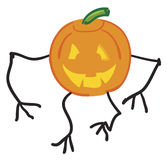 Scary Pumpkin. Scary walking pumpkin. Arms and legs could be of the vine vector illustration