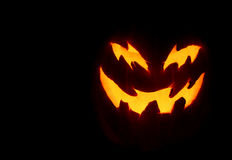 Scary Pumpkin. A close up of a pumpkin carved with for halloween Royalty Free Stock Photo