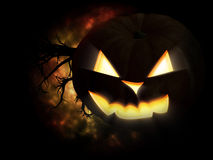 Scary Pumpkin Royalty Free Stock Images