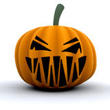 Scary pumpkin Stock Image