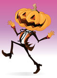 Scary Pumpkin Character. Scary Halloween Character with a Pumpkin for a head with a dandy looking human body Royalty Free Stock Image