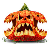 Scary Pumpkin Character Group Royalty Free Stock Photography