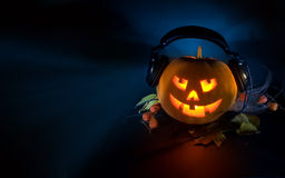Scary pumpkin DJ Stock Photos