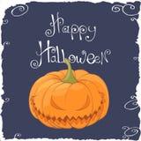 Scary pumpkin face Royalty Free Stock Photos