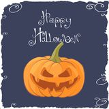 Scary pumpkin face Stock Images
