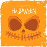 Scary Pumpkin Face for Halloween Stock Image