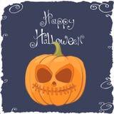Scary Pumpkin Face for Halloween Stock Photos