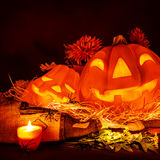 Scary pumpkin Halloween Royalty Free Stock Photography