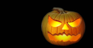 Scary pumpkin. Halloween inspired carved pumpkin Stock Image