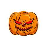 Scary pumpkin for Halloween. Vegetables for terrible holiday Royalty Free Stock Image