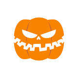 Scary pumpkin for Halloween. Vegetables for terrible holiday.  Stock Photography