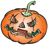 Scary pumpkin illustration Royalty Free Stock Photography