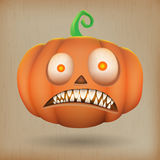 Scary pumpkin vintage background Stock Photos