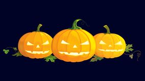 Scary pumpkins Stock Photos