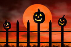 Scary pumpkins Royalty Free Stock Photo