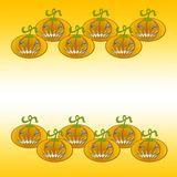 Scary Pumpkins background. With copy space in the middle Royalty Free Stock Image