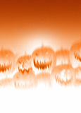 Scary pumpkins background with room for text Royalty Free Stock Image