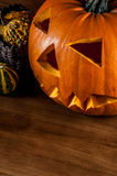 Scary pumpkins, halloween concept Royalty Free Stock Photo