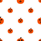 Scary Pumpkins for Halloween. Seamless pattern with pumpkins and horrible grimaces Stock Images