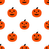 Scary Pumpkins for Halloween. Seamless pattern with pumpkins and horrible grimaces Royalty Free Stock Image