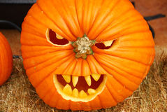 Scary Pumpkins Royalty Free Stock Photos