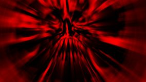 Scary red screaming vampire head. Illustration in genre of horror. Royalty Free Stock Photography