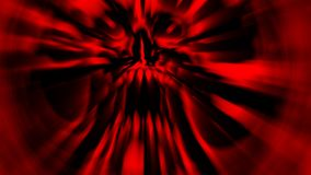 Scary red screaming vampire head. Illustration in genre of horror. Spooky character skull Stock Photography