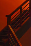 Scary red steps Stock Photos