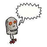 Scary robot head cartoon Royalty Free Stock Image