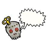 scary robot head cartoon Vector Illustration