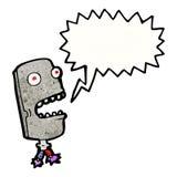Scary robot head cartoon Stock Photography