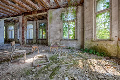 Scary room in abandoned house Royalty Free Stock Photography
