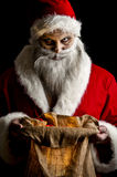 Scary santa. Portrait of a scary looking santa claus Royalty Free Stock Image