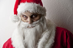 Scary santa. Portrait of a scary looking santa claus Royalty Free Stock Photography