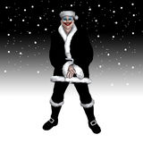 Scary Χριστούγεννα Santa Στοκ εικόνα με δικαίωμα ελεύθερης χρήσης