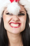 Scary santa girl Royalty Free Stock Photography