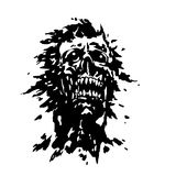 Scary screaming vampire head. Vector illustration. Stock Photography
