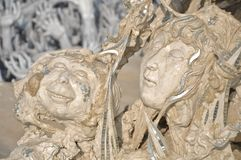 Scary sculpture with hope Stock Photos
