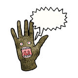Scary shrieking hand monster Royalty Free Stock Images