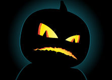 Scary silhouette of pumpkin Royalty Free Stock Image