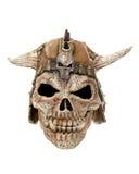 Scary skull halloween mask. Cutout stock image
