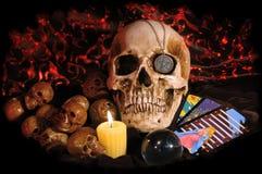 Scary skull stock photography