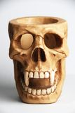 Scary skull stationary holder Royalty Free Stock Images