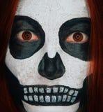Scary skull woman royalty free stock photography