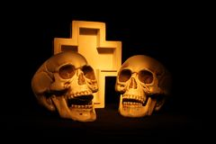 Scary Skulls Royalty Free Stock Images