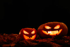 Scary smiling Halloween pumpkin Stock Photography