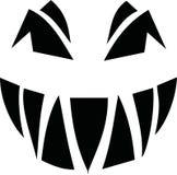 Scary spooky pumpkin face. Vector Royalty Free Stock Photos