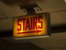 Scary Stairs Sign Royalty Free Stock Photography