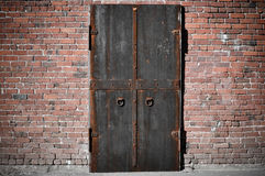 Scary Steel Door Royalty Free Stock Photos