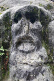 Scary Stone Head Royalty Free Stock Photos